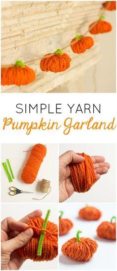 Yarn Pumpkins | Design Improvised