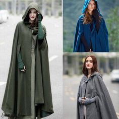 Hooded Wool Coat, Poncho Coat, Hooded Sweater, Sweater Coats, Coat Dress, Winter Poncho, Winter Coat, Long Cape, Hooded Dress
