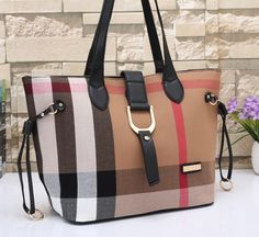 8c724fdd24f2 Burberry Women Leather Tote Handbag Shoulder Bag Satchel from Best Gifts.  Saved to Things to