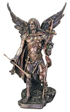 """Archangel Gabriel Statue Bronze Style Veronese Collection Large 14"""" Tall"""
