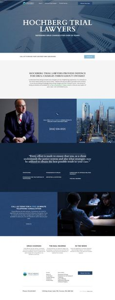 Hochberg Trial Lawyers Law Firm Website Design – My Pin's Website Design Inspiration, Best Website Design, Portfolio Website Design, Website Design Layout, Website Designs, Lawyer Website, Law Firm Website, News Website, Website Ideas