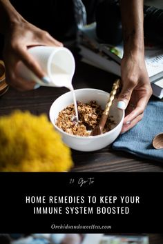 When it comes to keeping your body healthy, there are so many factors that contribute to your overall health. This list of my 20 Go-To Immune Boosting Home Remedies can help to keep your body strong throughout any time of the year. It's important to understand that simple everyday practices from exercise to sleep, eating healthy, hot steams, essential oils, and more; all play a role in strengthening your body's entire system. #ImmuneBoosting #HomeRemedies #HealthyLifestyle #Wellness #GoToRemedy Sweet Tea Recipes, Quick Recipes, Healthy Recipes, Food Inc, Boost Immune System, Vegetarian Options, Slow Cooker Recipes, Home Remedies, Dairy Free
