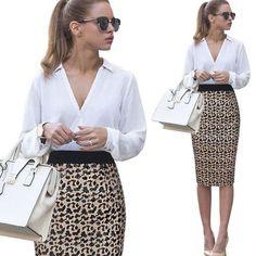 Vfemage Women's Sequins Fashion Elegant Sexy Slim High Waist Pencil Sheath Bodycon Skirt