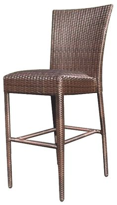 Elegant All Weather Wicker Bar Stool
