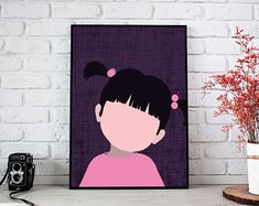 Monster's inc Boo poster Monsters Inc Nursery, Monsters Inc Boo, Monster Inc Party, Disney Characters, Fictional Characters, Poster, Handmade, Etsy, Boo From Monsters Inc