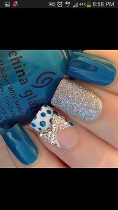 Different glitter nails