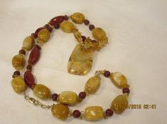 Exotic Necklace Summer Necklace Beach Necklace Jasper by BeadTese Back Jewelry, Jewelry Necklaces, Beaded Bracelets, Necklace Extender, Summer Necklace, Agate Necklace, Red Jasper, Bridesmaid Gifts, Beautiful Things