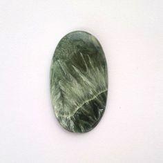 Seraphinite Cabochon 41mm Natural Color Cab Oval Green Stone Loose Semiprecious Stones Genuine Seraphinite Cab Supply Minerals Semiprecious