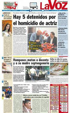 """PORTADA LA VOZ-NOTICIERO COMUNITARIO DEL TUY.@S R.FRANZ FREITES REPORTERO CIUDADANO DE """"LA VOZ DE GUARENA""""INFORMA:"""