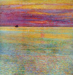 Childe Hassam - Sunset at Sea, 1911