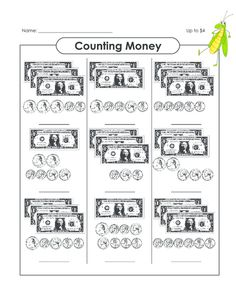 The Money Code   Counting Money, Worksheets and Cool Math