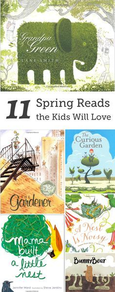 Spring roundup of books for preschoolers and kindergartners all about gardens!
