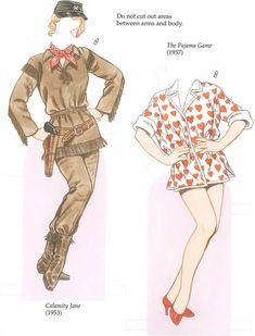 GLAMOROUS MOVIE STARS of the 1950s Paper Dolls by: Tom Tierney -  Dover Publications SAMPLE 2