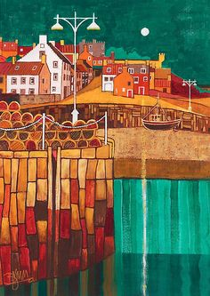 moonlit harbour  bridget march
