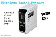 Espon LabelWorks LW-600P #win #giveaway #organize #label #printer #tech #gadgets #backtoschool #bts www.stowedstuff.com