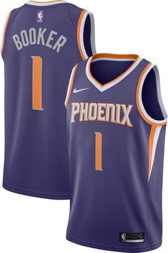 9f1e5bf0e Nike Men s Phoenix Suns Devin Booker  1 Purple Dri-FIT Swingman Jersey