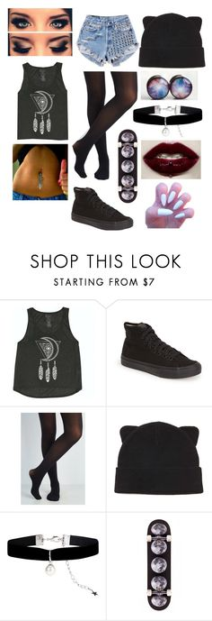 """gothic cutie"" by faiththewizard ❤ liked on Polyvore featuring Billabong, Vans, Runwaydreamz, Forever 21 and Monsoon"