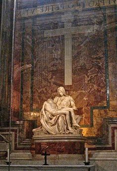Pieta by Michelangelo at the Vatican in Rome Catholic Art, Religious Art, Italy Vacation, Italy Travel, Visit Rome, Holy Art, Rome Antique, Things To Do In Italy, St Peters Basilica