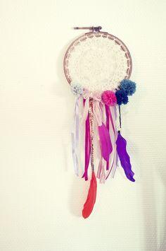 dreamcatcher crochet feather ribbons pompoms