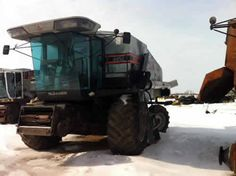 Gleaner R62 combine salvaged for used parts. This unit is available at All States Ag Parts in Sikeston, MO. Call 877-530-7720 parts. Unit ID#: EQ-23420. The photo depicts the equipment in the condition it arrived at our salvage yard. Parts shown may or may not still be available. http://www.TractorPartsASAP.com