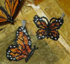Beaded Monarch Butterfly Wing Dance Pendant / by TuppersPerch