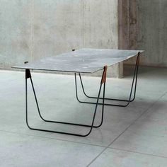 Seriously beautiful table. Simplicity and truth in materials reigns supreme. In Vain by Ben Storms   Yellowtrace