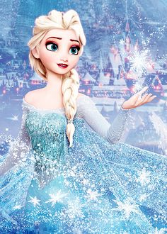 Elsa. this picture is too pretty not to repin. my future kids will love this…