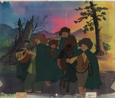 Original production cels and production background from Ralph Bakshi's The Lord of the Rings.