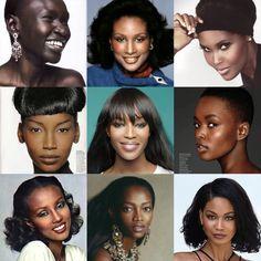 Alek Wek, Beverly Johnson, Ubah Hassan, Beverly Peele, Naomi Campbell, Flaviana Matata, Iman, Olouchi, Chanel Iman