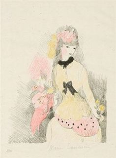 La dame jaune by Marie Laurencin in Fine Art Online on May 2016 at the null null sale lot 1009 Drawing Sketches, Drawings, Art Moderne, Large Art, Lovers Art, Online Art, Art For Sale, Art History, Printmaking