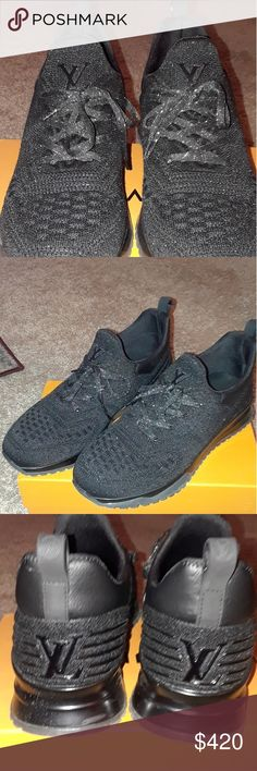 3c40d550e0 Shop Men's Louis Vuitton Black size 11 Sneakers at a discounted price at  Poshmark. Description: Very dope running shoe worn so broken in.