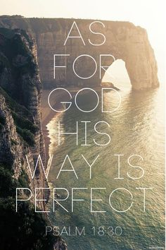 As for God, his way is perfect: The Lord's word is flawless; he shields all who take refuge in him. Psalm 18:30 NIV