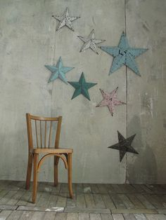 LES PETITS BOHEMES Image of Etoile en métal : grand choix de couleurs !/ Metal barn star