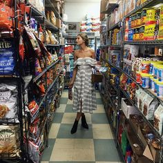 Summer's Most Stylish—and Unexpected—Photoshoot Location: Grocery Stores