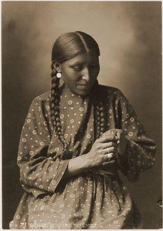 Mrs. White Elk, Cheyenne, by L. A. Huffman, 1879, Douglas Kenyon Collection…