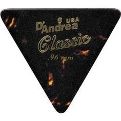 D'Andrea 355 Triangle Celluloid Guitar Picks One Dozen Shell Thin by D'Andrea. $3.95. 355 Triangle Celluloid Picks provide a familiar touch and tone like real tortoise shell. Set of 12.