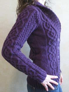 Ravelry: Blackberry Cabled Cardigan pattern by Alexandra Charlotte Dafoe