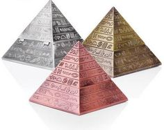 Household Merchandises Ashtrays Tin alloy vintage engraving clamshell pyramid ashtray free shipping #Affiliate