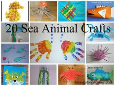 20 fun sea animal crafts for kids + an awesome giveaway!