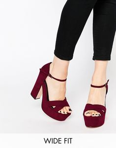 Image 1 of ASOS HIGH SPIRITS Wide Fit Platforms