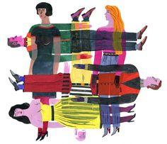 Fanny Blanc, titre inconnu (2012).  Formée à l'école des Arts décoratifs de Strasbourg, cette artiste française vivant à Lyon est fascinée par les images du passé et l'imagerie populaire. Ses dessins ont illustré des livres et des articles. Elle fait partie du collectif strasbourgeois Psoriasis, ainsi que de l'atelier de sérigraphie et d'édition Couteau.