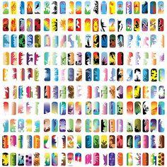Get It now Pro Airbrush Nail Art Paint Stencil Kit Design Set 10,