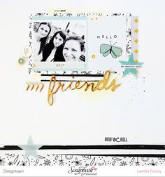 #papercrafting #scrapbook #layouts: by laeti: Une page Seven Paper