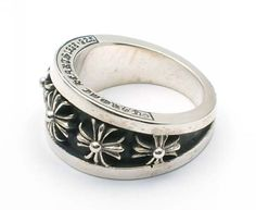 125f6ae4b5a6 Buy Chrome Hearts Crosswise Oval Silver Ring Sale Chrome Hearts Ring