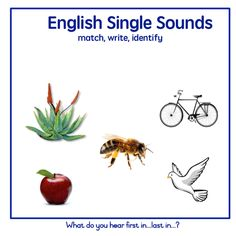 A game to identify the initial (and sometimes final) sounds in words. Match, Write, Listen… See the Afrikaans version here: https://teachingresources.co.za/product/identifiseer-die-afrikaanse-enkelklanke/