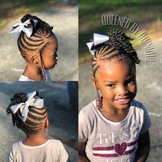 Little Girl Braid Styles, Kid Braid Styles, Little Girl Braids, Black Girl Braids, Braids For Kids, Girls Braids, Kid Styles, Toddler Braided Hairstyles, Lil Girl Hairstyles