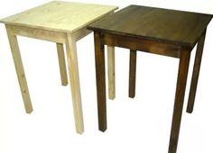 mesa de pino maciza 60x60 en crudo sin pintar parrila bar