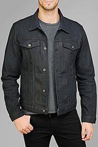 vintage mens GUESS black denim jacket, men's size medium, hipster ...