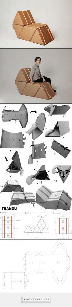 "ikea cardboard chair ""TRANGU"" by Demidova Nadya curator: Arseny Sergeev  HSE ART AND DESIGN SCHOOL"