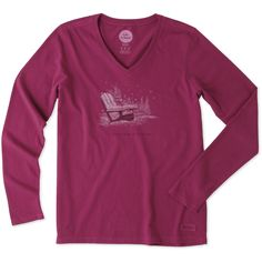 Women's Positive Altitude Adirondack Long Sleeve Crusher Vee | Life is Good® Official Site